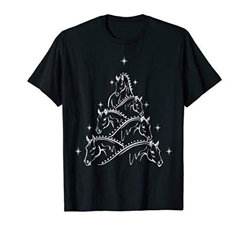Funny Horse & Christmas Tree T-Shirt ()