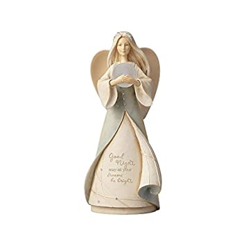 Enesco Foundations Lullaby Angel Night Light, 9.06 Polyresin Figurine