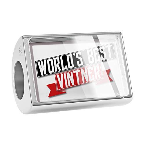 NEONBLOND Charm Worlds Best Vintner 925 Sterling Silver Bead