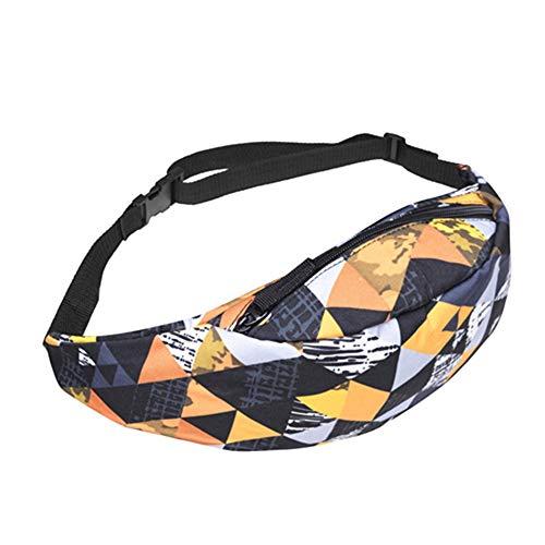 JITALFASH 2019 Back Full Black 3D Print Waist Bag Women Fanny Pack Belt Waist Pack for Men LS2-1 OneSize
