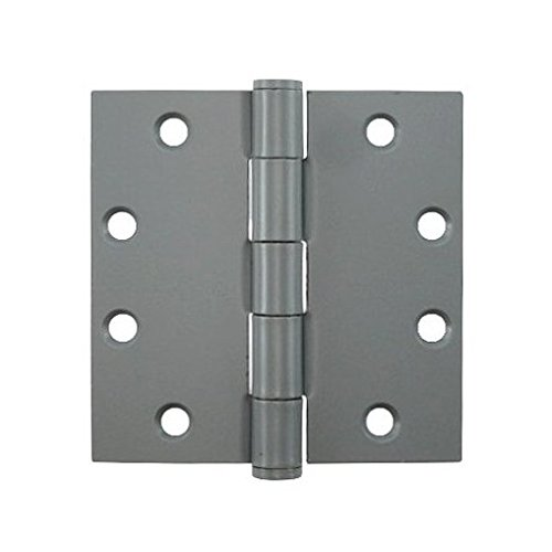 4-1/2'' Prime Coated Butt Hinges - Sold By The Box 1-1/2 Pairs (3 Pieces)