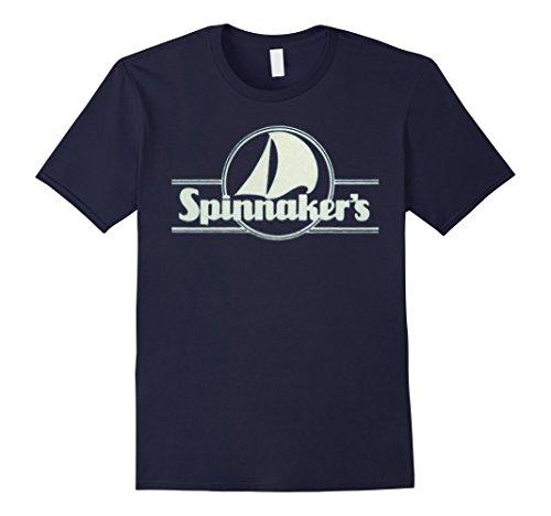 Mens Spinnaker's Restaurant Retro 80s Logo T Shirt XL Navy - South Carolina Logo Square