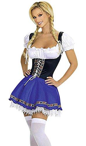 Weiß Outfit Mittel Oktoberfest traditionellen Party Lederhose Abendkleid Bier und Blau bayerischen Frauen Oktoberfest Damen Halloween Dirndl Kostüm Harrowandsmith Karnevalskostüm Deutsch 4SgqFw4d