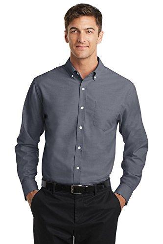 Port Authority S658 Men's SuperPro Oxford Shirt Black Large