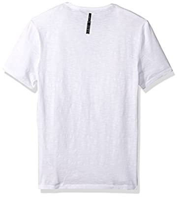 Calvin Klein Jeans Men's Short Sleeve Calvin Vertical Logo Crew Neck T-Shirt