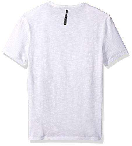 a2db96fe8ad Calvin Klein Jeans Men s Short Sleeve Calvin Vertical Logo Crew Neck T-Shirt