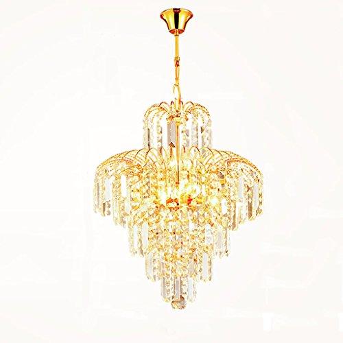DEI QI European Luxury 5 lamp Chandelier Crown Shape, Crystal Family Ceiling lamp, Restaurant Bedroom Living Room Lighting Chandelier, Imperial Crystal Trim Chandelier, E14 Gold