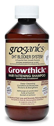 Groganics DHT Grow Thick Hair Fattening Shampoo, 8 Ounce
