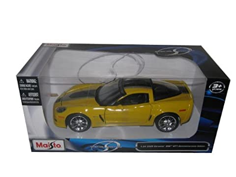 2009 Chevrolet Corvette C6 Z06 GT1 Commemorative Edition 1/24 Yellow (C6 Corvette Toy)