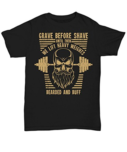 (Grave Before Shave- Men's Tee (L) )
