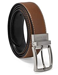 Steve Madden mens Dress Casual Every Day Reversible Leather Belt Belt