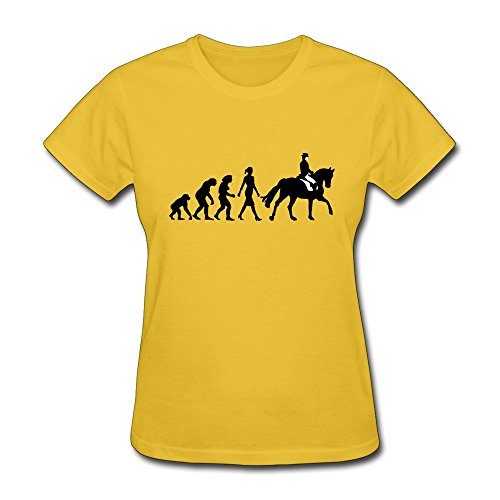 - Women's Evolution Reiterin 102012 A 2c 100% Cotton O Neck T-Shirt Yellow US Size XXL