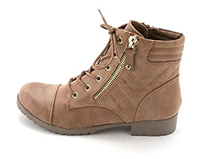 92f6a79a35ce6 Amazon.com | G by GUESS Women's Shoes Bean Ankle Boots Lace Up Dark ...