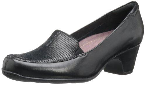 CLARKS Women's Sugar Zest Loafer,Black,7.5 M ()