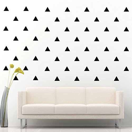 Triangle Removable Wall Vinyl Decal Sticker Wall Decor (Black 3