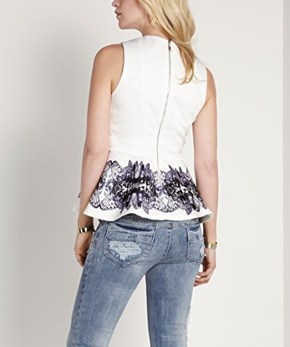 Josh v - Camisa deportiva - Sin mangas - para mujer White Butterfly Panel Print