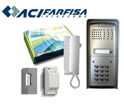 Z8x Farfisa 2 Wire 1pexfd Door Access Entry Audio Intercom System