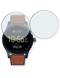 2x Golebo Anti-Glare screen protector for Fossil Q Marshal (Anti-Reflex, Air pocket free application, Easy to remove)
