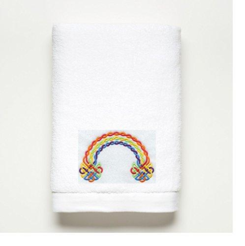 Rainbow Embellished Bath Towel ~ 100% Cotton