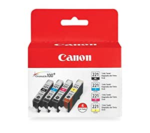 Canon 4 Color Ink Value Pack, Black, Cyan, Magenta, Yellow (2946B004)