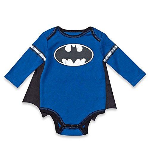 DC Comics Batman Baby Boys' Bodysuit and Cape Set (3-6 (Boys Superman Longsleeve Costumes Tshirt)