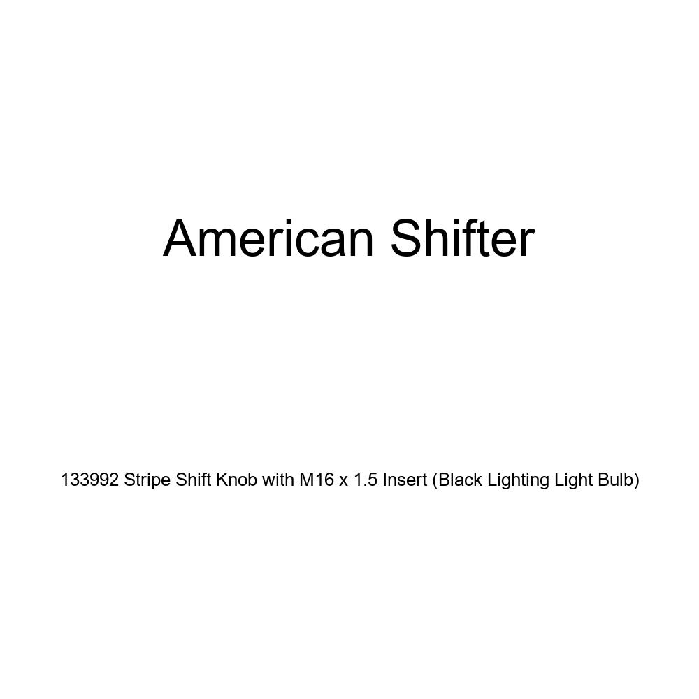Black Lighting Light Bulb American Shifter 133992 Stripe Shift Knob with M16 x 1.5 Insert
