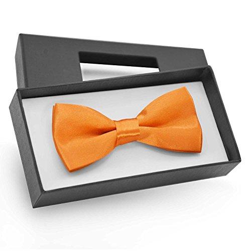 Orange Bowties (Brooben Boys Kids Bowtie Pre tied Banded Satin Adjustable Bow Tie BT1 Dark Orange)