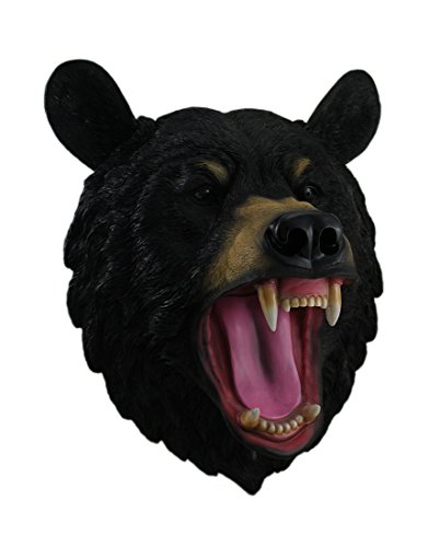 Wildlife Fake Taxidermy Wall Mount By DWK (Roaring Black Bear)