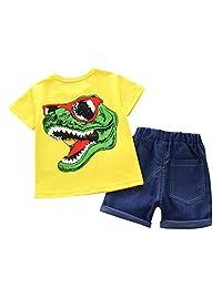 Jugendhj Babysuit ��������Children Toddler Kids Baby Boy Girl 3D Cartoon Tops T-Shirt Shorts Outfits Set