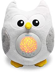 Baby Soother Toys Owl White Noise Sound Machine, Toddler Sleep Aid Night Light, Unique Baby Girl Gifts & Baby Boy Gifts, Woodland Baby Shower, Portable Baby Soother, New Baby Gift, Gender Neutral