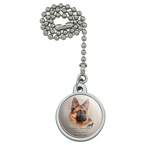 GRAPHICS & MORE German Shepherd Dog Breed Ceiling Fan and Light Pull Chain