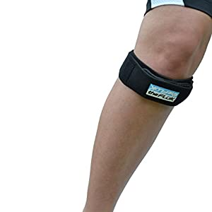 The Fluk Premium Adjustable Knee Strap, Knee Pain Relief, Patella Stabilizer Knee Strap Brace Support For Hiking, Soccer, Basketball, Running, Jumpers Knee, Tennis, Tendonitis, Volleyball (1 Piece)