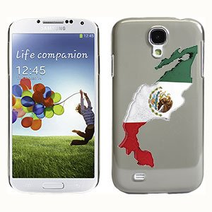 Cellet Proguard Case with Mexican Flag Map for Samsung Galaxy S4 - Transparent Smoke