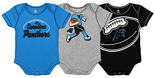 Outerstuff NFL Boys Newborn and Infant Assorted Team 3 Pack Creeper Set, Carolina Panthers 6-9 Months - Nfl Playoff Games