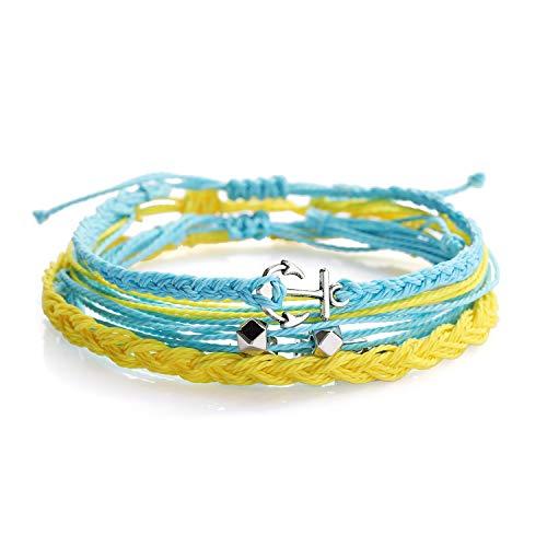 Starain Summer Beach Weave String Bracelet for Women Girls Boho Handmade Waterproof Braided Rope Anchor Bracelets Set Adjustable