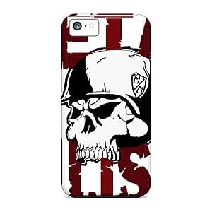 Durable Defender Case For Iphone 5c Tpu Cover(metal Mulisha)