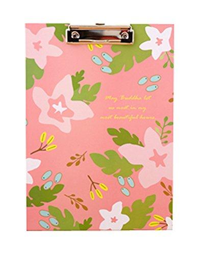 Cute Flower File Folder Writing ClipBoard Cactus Pink by Black Temptation