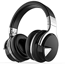 COWIN E7 Active Noise Cancelling Bluetooth Headphones with Microphone Hi-Fi Deep Bass Wireless Headphones Over Ear, Comfortable Protein Earpads, 30H Playtime for Travel Work TV Computer Cellphone