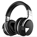 COWIN E7 Active Noise Cancelling Bluetooth Headphones with Microphone Deep Bass Wireless Headphones Over Ear, Comfortable Protein Earpads, 30H Playtime for Travel Work TV PC Cellphone - Refurbished