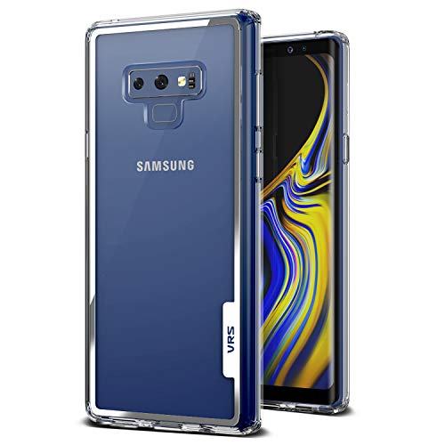 Note 9 Case, VRS Design [Transparent] Crystal Clear Heavy Duty Protection [Crystal Chrome] Anti-Yellowing Acryl Back TPU Bumper Samsung Galaxy Note 9 (2018)