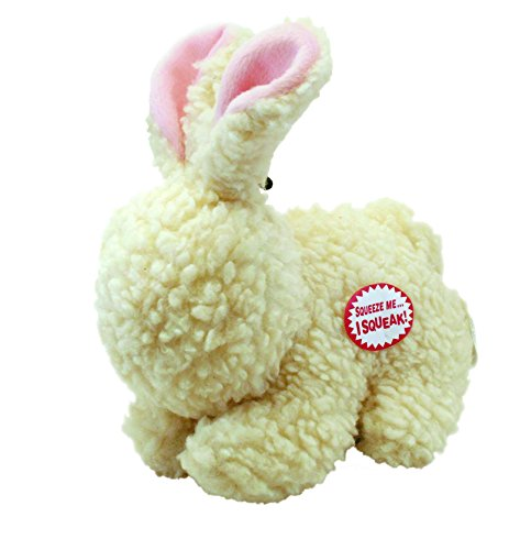 Ethical Pets Fleece Rabbit squeak Dog and Cat Toy. 9-Inch Durable pet toys ()