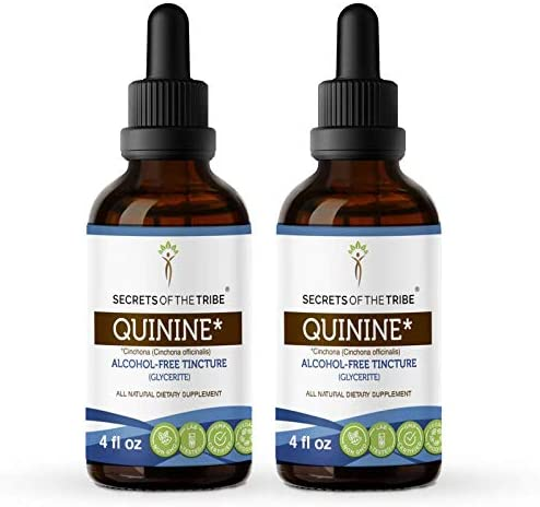 Quinine Alcohol-Free Tincture favorite Glycerite 680 mg Wildcrafted Brand new Qui