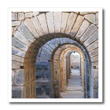 (3dRose Danita Delimont - Turkey - Turkey, Bergama, Pergamon. Arches of The Sanctuary of Trajan - 6x6 Iron on Heat Transfer for White Material (ht_312875_2) )