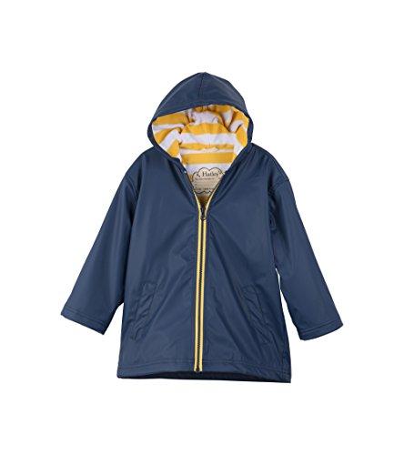 Hatley Little Boys' Splash Jacket, Navy/Yellow, 6 by Hatley