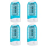 Maxtrv 4 Pack Plug in Electronic Insect Killer Bug Zapper Mosquito Lure Lamp Pest Control Eliminates Flying Pests Gnat Trap Indoor with Night Light