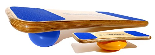 """CoolBoard Balance Board –The only true 3D / 360 balance & exercise training board – Large with Easy Start Balance Disc & Standard Speed 5"""" Pro Ball. Wobble Board, rocker board, balance trainer by CoolBoard"""