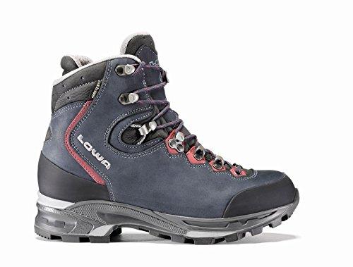 Lowa Women's Mauria GTX Flex WS WXL Wide Hiking Boot, Dark Blue/Bordeaux, 7 W US - Lowa Womens Lady Gtx