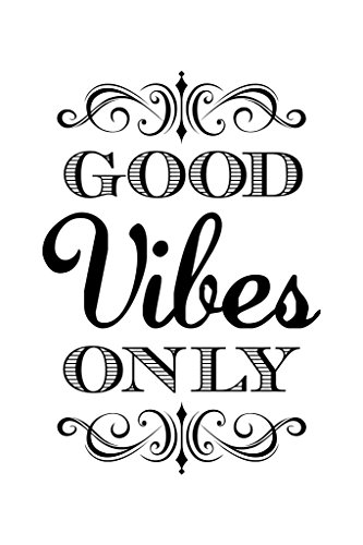 Good Vibes Only Motivational Inspirational White Poster