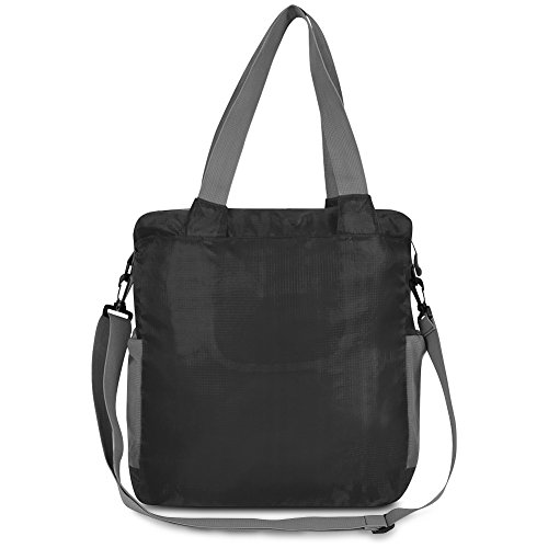 Travelon Packable Crossbody Tote, Black, One Size