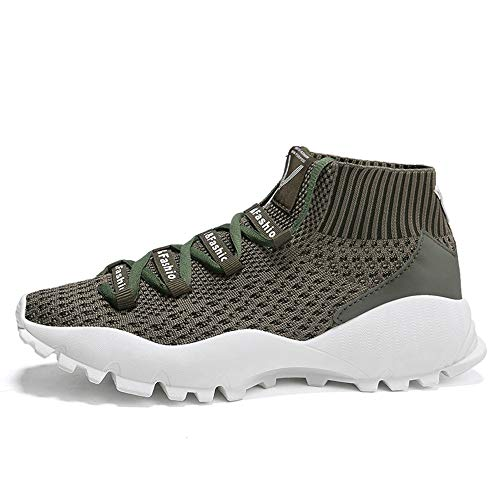 Price comparison product image Sunsee-Men Shoes Men's Shoes Mesh Fly Woven Breathable Comfortable Sports Shoes Casual Shoes (US 9,  Army Green)